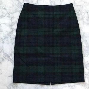 Plaid J.Crew Pencil Skirt